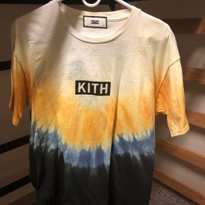 Kith Shirts Kith Tie Dye Box Logo Yellow Blue Black Tee Tshirt Poshmark